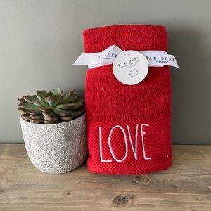 NWT Rae Dunn Love Hand Towels Set of 2